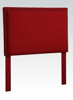 Acme Furniture 3911R Sabina Size Headboard with Fabric Upholstery, Nailhead Accents, Pine Wood and Plywood Frame in Red Linen