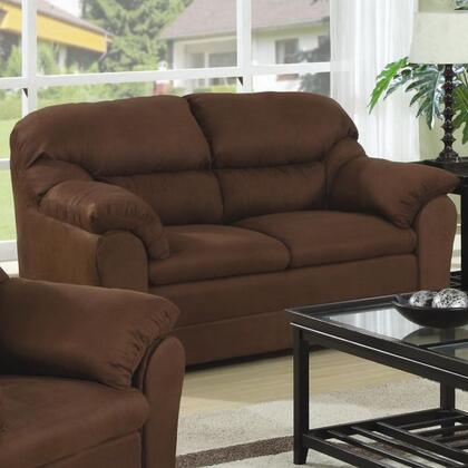 Coaster 501862N Microfiber Stationary with Wood Frame Loveseat
