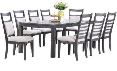 Sunset Trading DLUEL9282C909PC Shades of Gray Dining Room Se