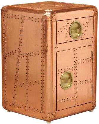 """Pulaski DS-A1xx-902 16"""" Aviation Door Chest with One Drawer and One Door For Storage, Recessed Hardware Pulls and Hardwood Frame in"""