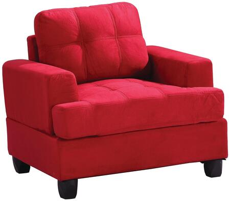Glory Furniture G516AC Red Suede Armchair