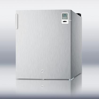 Summit FFAR22LCSSMEDDTLHD MEDDT Series Compact Refrigerator with 1.6 cu. ft. Capacity in Stainless Steel