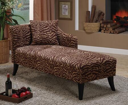 Armen Living LCMCH009FATI Patterson Series  Chaise Lounge