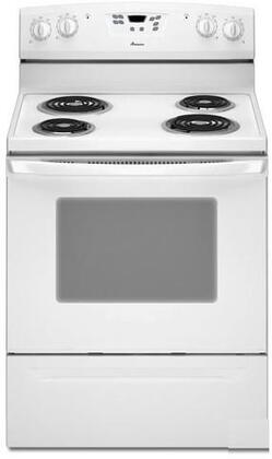 Amana AER5522VAW  Electric Freestanding Range with Coil Element Cooktop, 4.8 cu. ft. Primary Oven Capacity, Storage in White