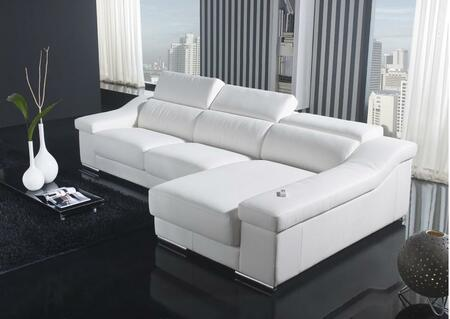 VIG Furniture VGYIT136CWHT  Sofa and Chaise Leather Sofa