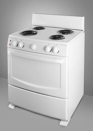 Summit RE304W White Pearl Series Electric Freestanding
