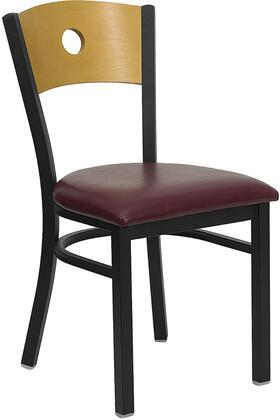 Flash Furniture XUDG6F2BCIRBURVGG Hercules Series Contemporary Vinyl Metal Frame Dining Room Chair