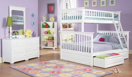 Atlantic Furniture YBBCOLUMBIATWINFULLWH Columbia Series  Full Size Bed