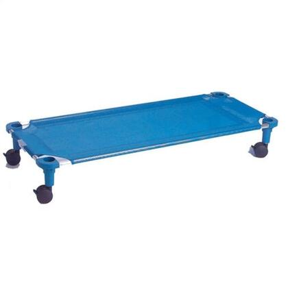 """Mahar 525T 52"""" Blue Fabric Unassembled Cot Dolly With Color Leg (Standard Size)"""