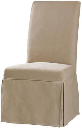 Clarice Skirted Chair in Hemp Fabric
