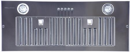 Hallman E70 Cabinet Insert Range Hood with 550 CFM Blower, 3 Fan Speed, 2 Halogen Lights and Baffle Filters in Stainless Steel