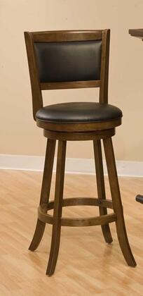 Hillsdale Furniture 4472 Dennery Swivel Bar Stool with Flared Legs, Vinyl Upholstery, Rubber Wood, Laminated Veneer and Plywood Construction