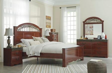 Milo Italia BR182QPBDMC Maliyah Queen Bedroom Sets