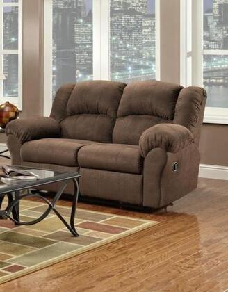 Chelsea Home Furniture 1002 Verona IV Ambrose Reclining Loveseat, with 1.8 Density Foam Cushion, Toggle Push Button Mechanism, and Upholstered