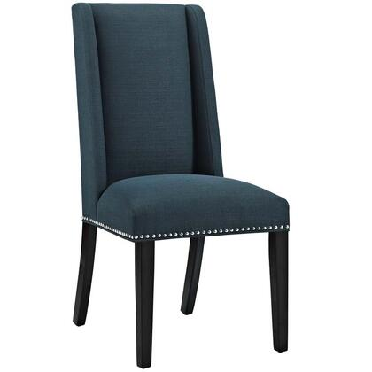 Modway EEI2233AZU Baron Series Modern Fabric Wood Frame Dining Room Chair