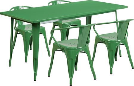 Flash Furniture ETCT005470GNGG Rectangular Shape Patio Sets