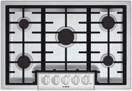 "Bosch NGM8055UC 31"" 800 Series Gas Sealed Burner Style Cooktop, in Stainless Steel"