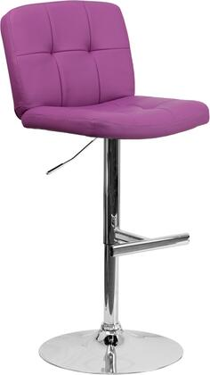Flash Furniture DS829PURGG Residential Vinyl Upholstered Bar Stool