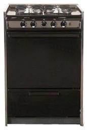 Summit TLM616R  Slide-in Gas Range with Sealed Burner Cooktop, 2.92 cu. ft. Primary Oven Capacity, Broiler in Black