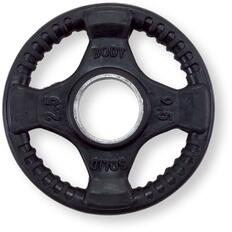 Body Solid ORT Rubber Grip Olympic Plates, Black