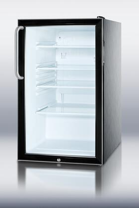 Summit SCR500BLCSSADA  Counter Depth All Refrigerator with 4.1 cu. ft. Capacity in Black