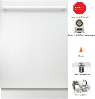 "Bosch SHX68T52UC 24"" 800 Series Built In Fully Integrated Dishwasher"