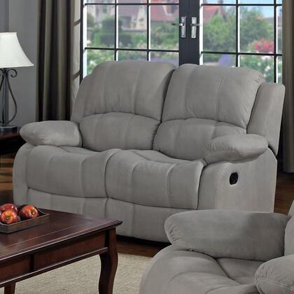 Coaster 600862 Reed Series Microfiber Reclining with Wood Frame Loveseat