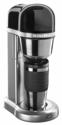 Kitchen Aid KCM0402 Personal Coffee Maker with 18 oz. Thermal Mug, Sleek, Compact Design, Removable Water Tank with Handle, and One-Touch Brewing, in