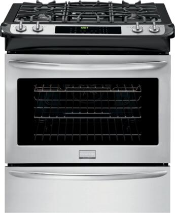 "Frigidaire FGGS3065PF 30"" Slide-in Gas Range with Sealed Burner Cooktop, 4.5 cu. ft. Primary Oven Capacity, Storage in Stainless Steel"