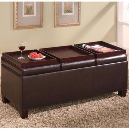 Coaster 501036 Ottomans Series Casual Wood Frame Ottoman