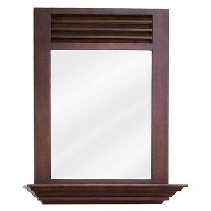 "Bath Elements MIR07LINDLEY Bath Elements 25.5"" x 30"" Lindley Mirror with 4"" shelf and Beveled glass"
