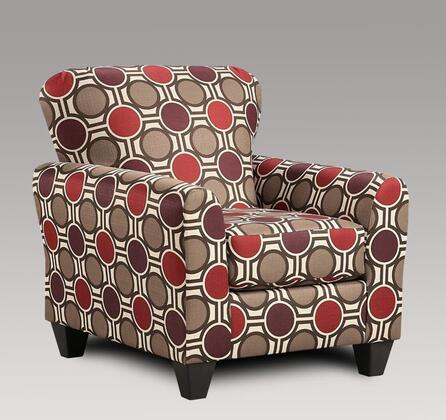 Chelsea Home Furniture 199001-X Lehigh Accent Chair, Medium Cushion Firmness, and Fabric Upholstery