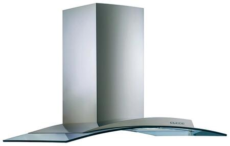 Futuro Futuro ISACQUAGLS Acqualina Island Mount Chimney Style Range Hood with Halogen Lighting, 940 CFM Internal Blower, Dishwasher-safe Mesh Filter, and Delay Shut-Off Timer, in Stainless Steel
