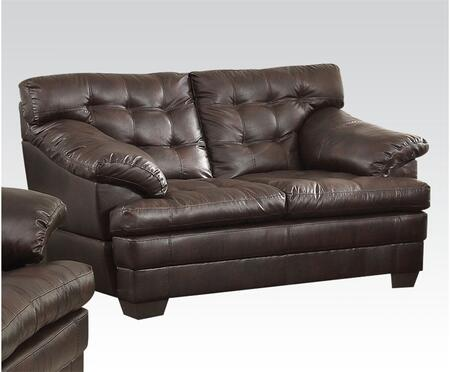 Acme Furniture 50821 Neonard Series Bonded Leather Stationary Loveseat