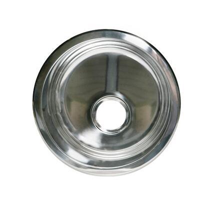 "Opella 14177.T 16.7"" Diameter Round Drop-In Bar Sink, 18 Gauge, 3-1/2"" Drain Opening:"