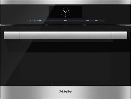 "Miele DGC6x051XL 24"" Combi-Steam Oven with M Touch Control, 1.7 cu. ft. Capacity, Plumbed Connection, MultiSteam Technology, True European Convection, and Wired Roast Probe, in"