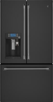 "GE Cafe CFE28Ux 36"" Energy Star Rated French Door Refrigerator with Keurig K-Cup Brewing System, 27.8 cu. ft. Total Capacity, TwinChill Evaporators, Turbo Cool Setting, and External Dispenser, in"