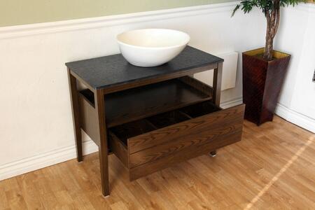 """Bellaterra Home 804357X 35.5"""" Single Sink Vanity - Wood"""