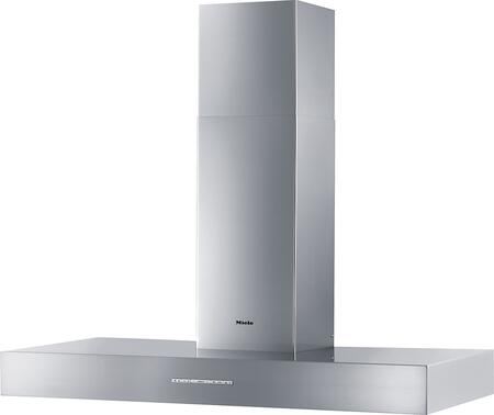 Miele DA53x1W Wall Mounted Puristic Arca Chimney Style Hood with 625 CFM Blower, 10-ply Stainless Steel Grease Filters, Intensive Mode, and Halogen Lighting, in Stainless Steel