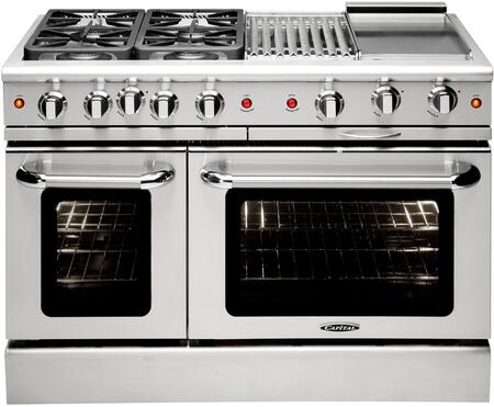 """Capital MCR484BGN 48"""" Gas Freestanding Range with Sealed Burner Cooktop, 4.6 cu. ft. Primary Oven Capacity, in Stainless Steel"""