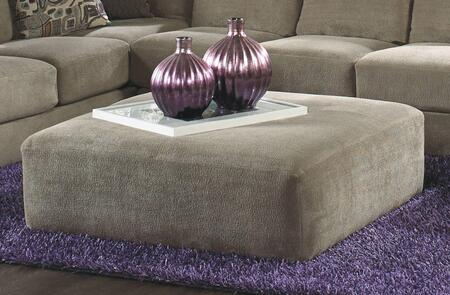 "Jackson Furniture Malibu Collection 3239-28- 52"" Cocktail Ottoman with Chenille Fabric Upholstery and Piped Stitching in"