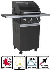 Sole SO3GBK  Black Freestanding Grill