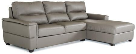 VIG Furniture VGKK3182ECOGRY Divani Casa Spindle Series Pull-Out Faux Leather Sofa