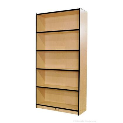 "Mahar M72SCASE 72"" Single Sided Book Case in Maple Finish with Edge Color"