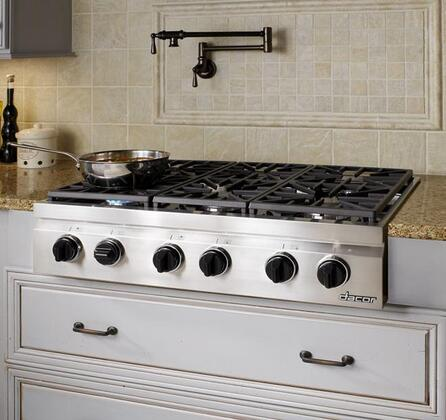 Dacor DRT366SLPH Distinctive Series 36 Inch Gas Sealed Burner Rangetop on