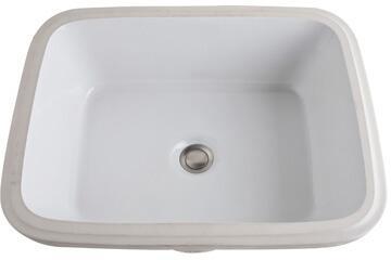 Rohl 15X2-00 Allia Rectangular Undermount Lavatory Sink in White Vitreous China