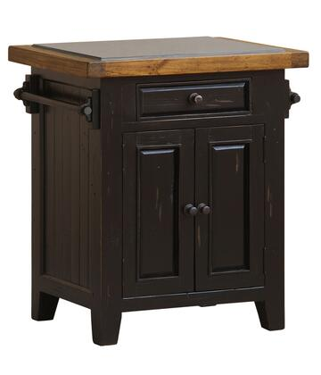 Hillsdale Furniture 855W Tuscan Retreat Small Kitchen Island with 1 Pass-Thru Drawer, 2 Doors, Granite Top and Solid Pine Timber Construction in