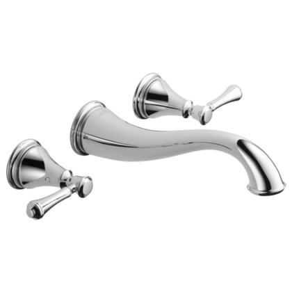 Cassidy T3597LF-WL Delta Cassidy: Two Handle Wall Mount Lavatory Faucet Trim in Chrome
