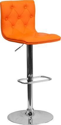 Flash Furniture CH112080ORGGG Residential Vinyl Upholstered Bar Stool