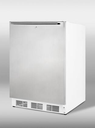 "Summit VT65ML7A 24"" Commercially Approved ADA Compliant Upright Freezer with 3.5 cu. ft. Capacity, Factory Installed Lock, Three Slide-Out Drawers and Adjustable Thermostat in Stainless Steel"